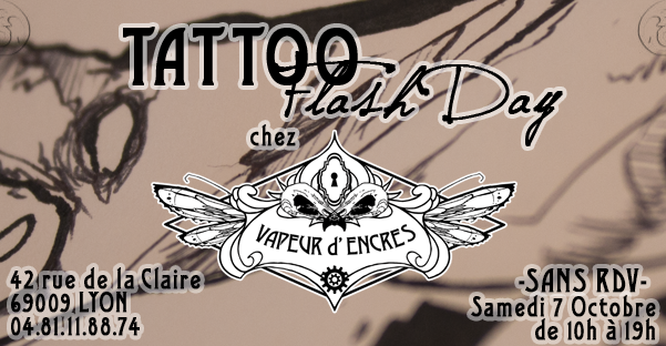 Journée flashs day tattoo flash day