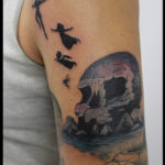 laurelarth tattoo tatoueur lyon vapeur encres tatouage flashs crane skull disney silhouette peter pan skullisland