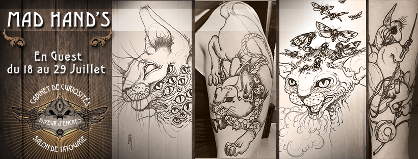 artiste tatoueuse mad hands illustration